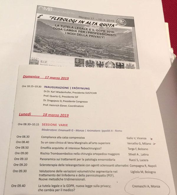 programma convegno Merano Flebologi